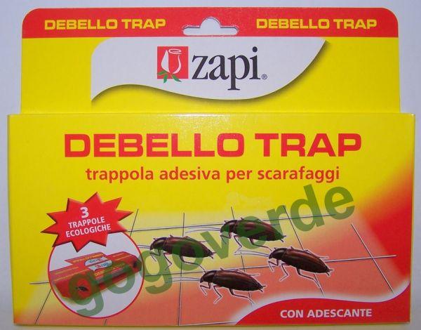 """TRAPPOLA SCARAFAGGI """"DEBELLO TRAP"""" Zapi - CF. 3 TRAPPOLE CON ADESCANTE"""