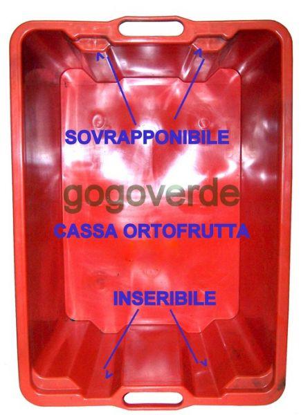 CASSA PLASTICA Orto FRUTTA USO ALIMENTARE LT 65 SOVRAPPONIBILE - INSERIBILE