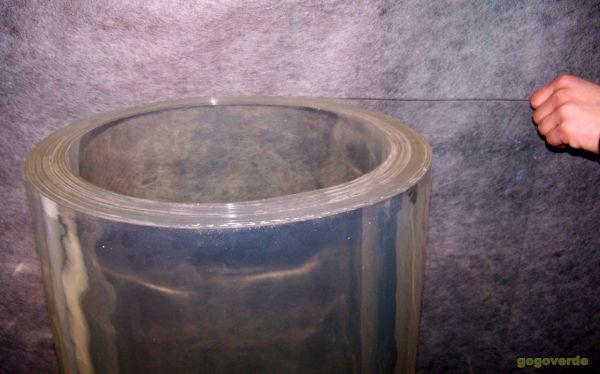 1 ROTOLO LASTRA STRISCIA PVC FLESSIBILE TRASPARENTE CM 120 X MTL 20 sp.2mm