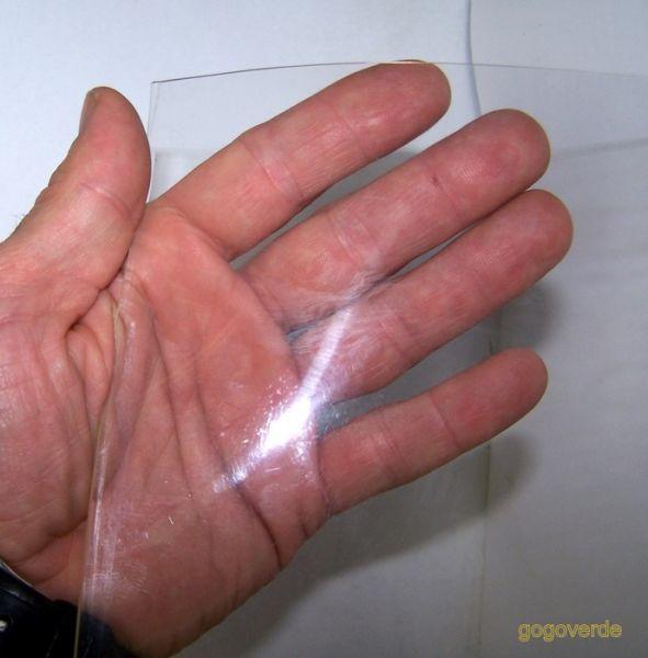 1 mt LASTRA STRISCIA PVC FLESSIBILE TRASPARENTE H cm 30 sp.3mm TENDA