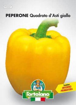 Semi di Peperone Giallo Quadrato d'Asti