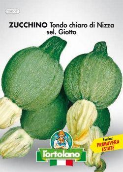 Semi di Zucchino Tondo Chiaro di Nizza