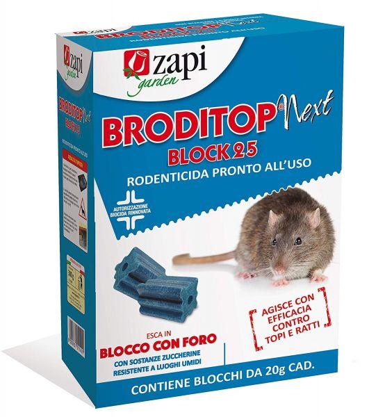 Esca Topicida biocida Zapi Broditop Next 300gr - Blocchetti da 20gr