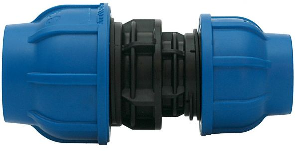 Raccordo manicotto ridotto a compressione pn16 in polipropilene per giunzione tubi