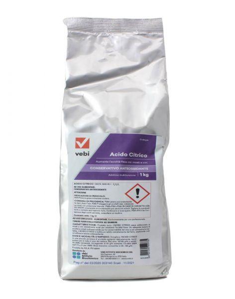 Acido Citrico Vebi per Enologia 1 kg