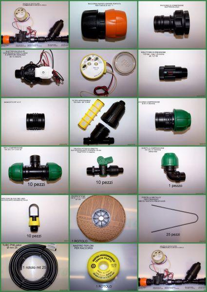 Kit Professionale Automatizzato per Irrigazione Orto - 250 m