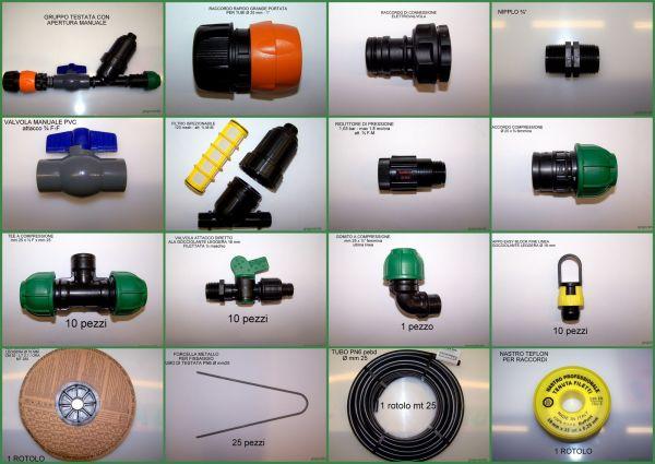Kit Professionale per Irrigazione Orto 250 m