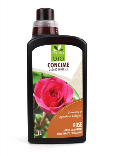 Concime Liquido Biologico per Rose Presto Bio 1 lt