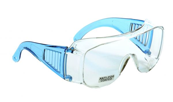 Occhiali protettivi avvolgenti Eagle DoubleSafety - aste blu