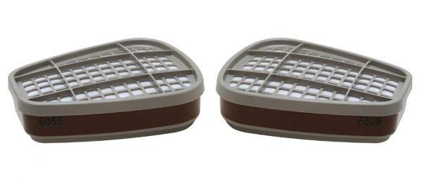 Coppia Filtri per Vapori Organici 3M A1-A2 6055