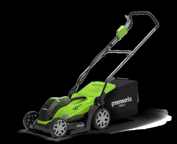 Tagliaerba a batteria Green Works G40LM35 - Taglio 35cm - Kit 4,0Ah + Caricabatterie