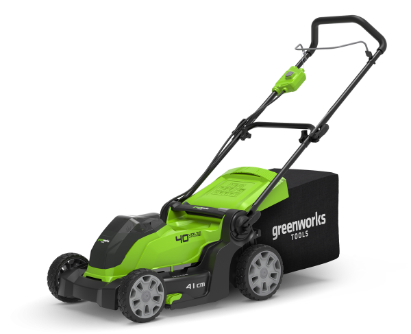Tagliaerba a batteria Green Works G40LM41 - Taglio 40cm - Kit 4,0Ah + Caricabatterie