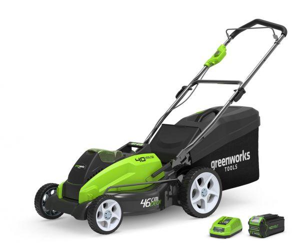 Tagliaerba a Batteria GreenWorks G40LM45 + Kit Batteria 4Ah