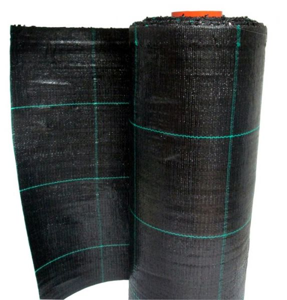 Telo per pacciamatura in polipropilene nero quadrettato verde - rotolo 100mt