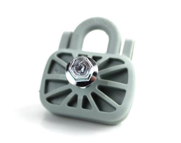 Placchetta Antistrappo FermaRete da 40 mm con Vite