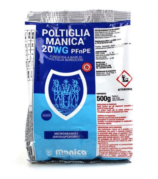 Fungicida Biologico a base di rame Poltiglia Bordolese Manica 20WG - 500g