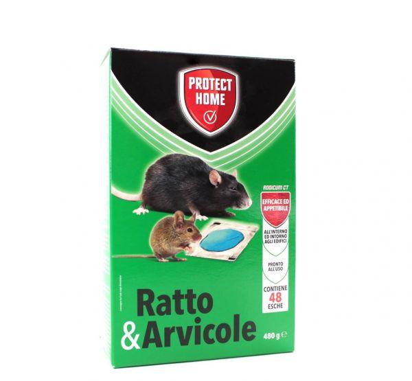 Protect Home Rodicum CT Biocida per Ratti e Arvicole 480 g