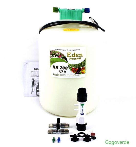 Dosatore per Fertirrigazione Eden Flow NR 200 Starter Kit - 10,4 lt - 2000 mq