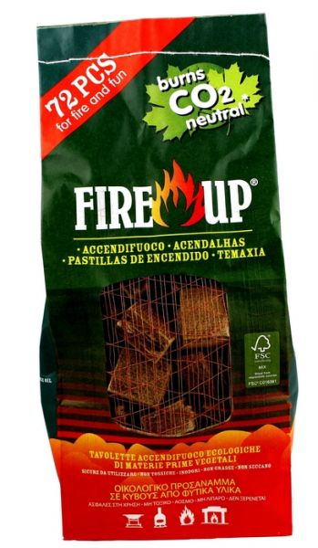 Zollette AccendiFuoco Ecologiche Fire Up 72 pz