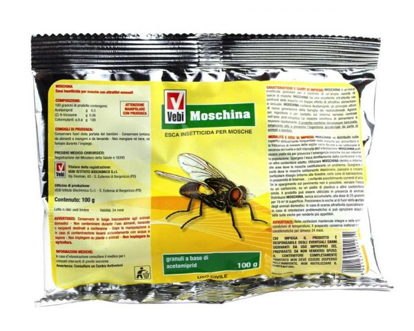 Esca Insetticida Granulare per Mosche - Vebi Moschina 100 g
