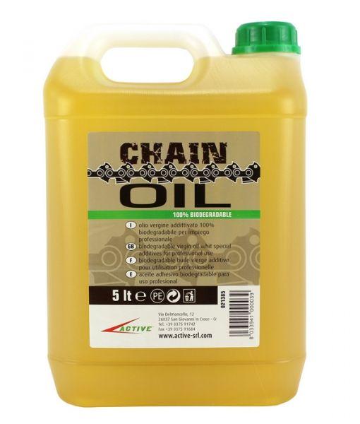 Olio a base Vegetale lubrificante per catena da motosega Active 5 lt