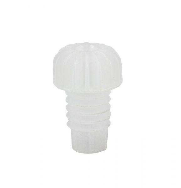 100 Tappi in Plastica Rigati colore Bianco tipo Pesante