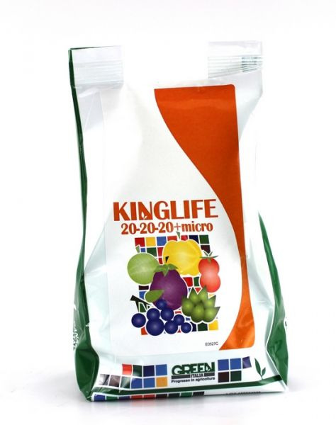 Concime Idrosolubile per Fertirrigazione Kinglife 20-20-20 + Micro - 1kg