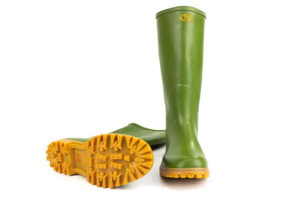 Stivali in Gomma Superga Ginocchio Verde con Suola CarroArmato