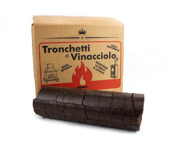Tronchetti di Vinacciolo da Ardere per Stufe e Camini - 15 kg