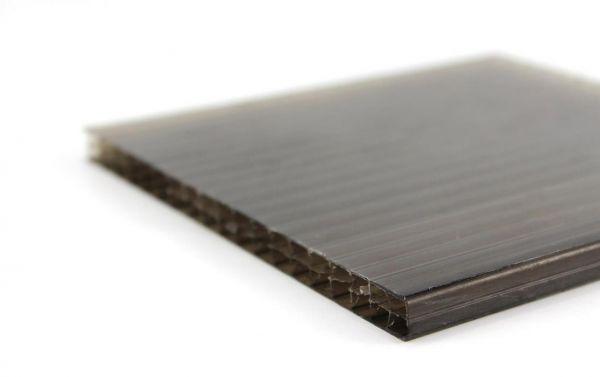 Policarbonato alveolare fumè bronzato per coperture e finestrature - misure a scelta