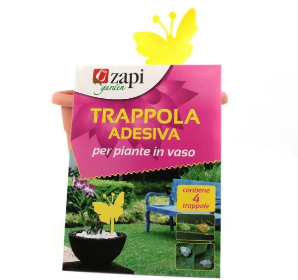 """Trappola adesiva per piante in vaso """"Farfalla"""" Zapi Garden - Pack 4 pz"""