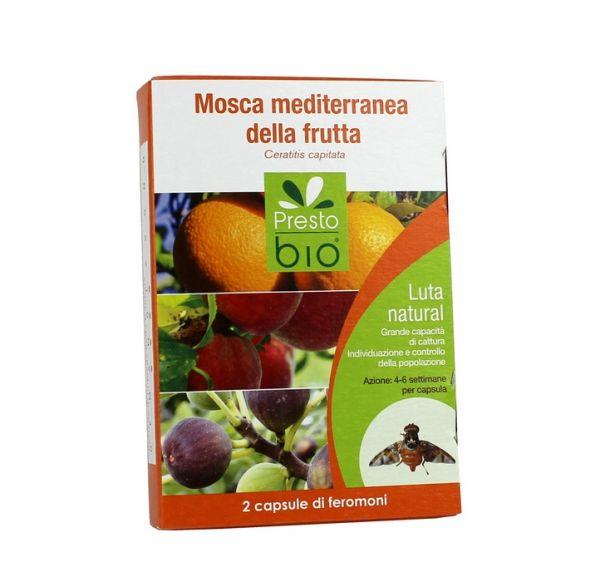 2 Capsule a Feromoni per la Cattura della Mosca Mediterranea della Frutta
