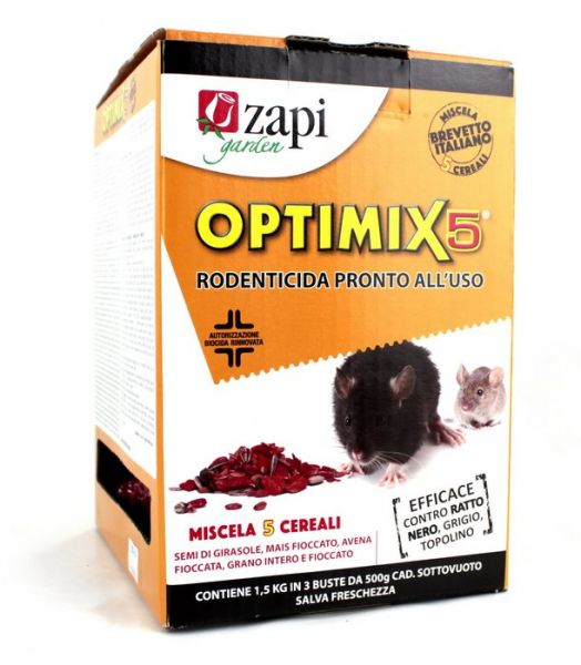 Esca Topicida biocida in grani Zapi Optimix 5 - 1,5kg