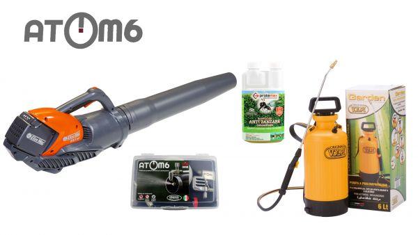 Kit Atomizzatore - Atom6 + Soffiatore Oleomac Bvi60 + Pompa volpi 6lt + Insetticida Fortex 500ml