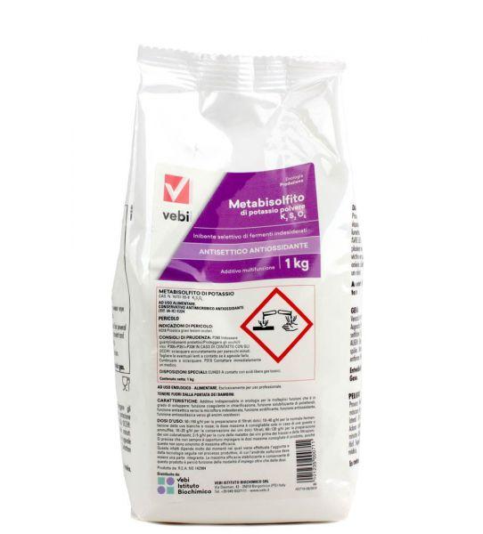 Vebi Metabisolfito di Potassio in Polvere 1 kg