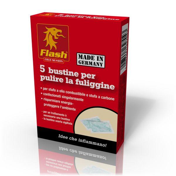 5 Bustine Polvere Spazza Stufa Anti Fuliggine