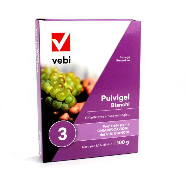 Chiarificante Enologico per Vino Bianco Vebi Pulvigel Bianchi 100 g