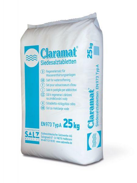 Sale in Pastiglie per Addolcitori d'acqua - Claramat 25 kg