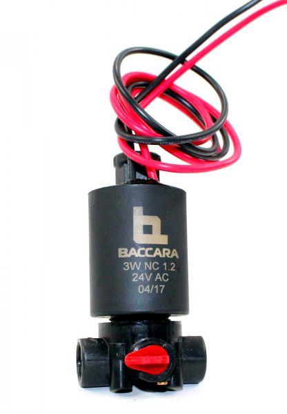 "Solenoide 3 vie Baccara NC24 VAC - per idrovalvole foro 3/8"""