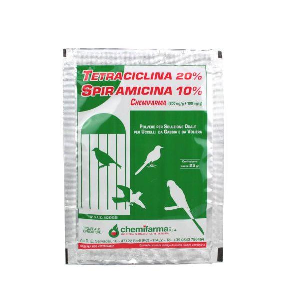 TETRACICLINA SPIRAMICINA 25 gr.MEDICINALE ANTIBIOTICO uccelli gabbia e voliera
