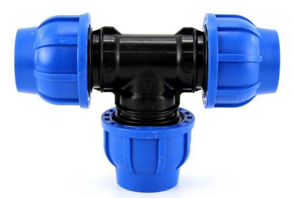 Ti a compressione pn16 in polipropilene per tubo irrigazione