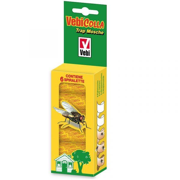 Spiralette di carta adesiva cattura mosche Vebicolla Trap
