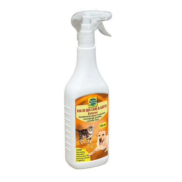Repellente Disabituante spray per cani e gatti Via di Qui 750ml